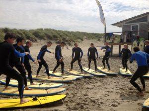 Surfen op het droge